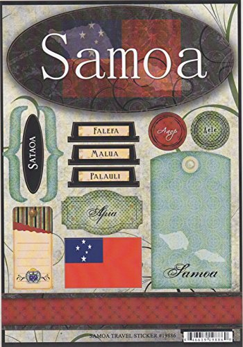 Samoa World Travel Cardstock Scrapbook Stickers (19886)