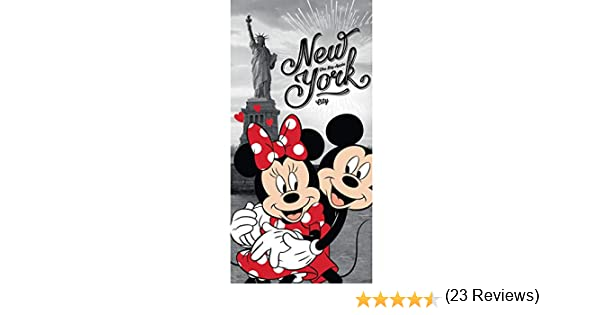 70 x 140 cm Disney 18TW176 Toalla de ba/ño dise/ño de Minnie y Mickey Mouse York