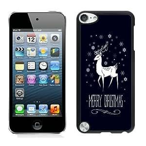 Custom Merry Christmas Black iPod Touch 5 Case 5