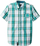 LRG Big Boys' Big Heather Yarndie Plaid Short Sleeve Woven