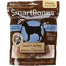 SmartBones Peanut Butter Dog Chew, Large, 3-Count