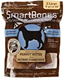 SmartBones Peanut Butter Dog Chew, Large, 3 pieces/pack