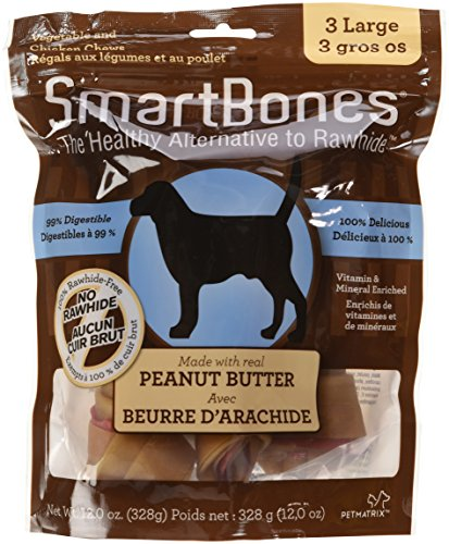 SmartBones Rawhide-Free Dog Chews, Made With Real Peanut Butter by SmartBones