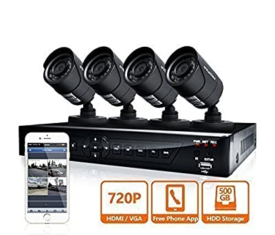 LaView 4 HD 720P Camera Security System, 4 Channel 720P HD-TVI DVR w/500GB HDD and 4 720P HD Black Bullet Surveillance Cameras Kit from LaView Eagle-Eye Technology Inc. (LaView)
