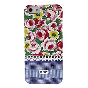 SUMCOM Blue Base Lace Series Flower Pattern Relief Back Case for iPhone 5/5S(Assorted Color) , 2