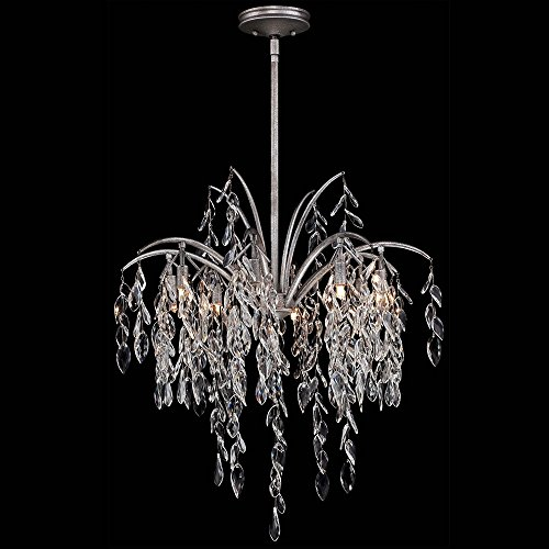 Flora 1 Light Pendant - Metropolitan N6868-278 Bella Flora Pendant, 8-Light Xenon 600 Total Watts, Silver Mist