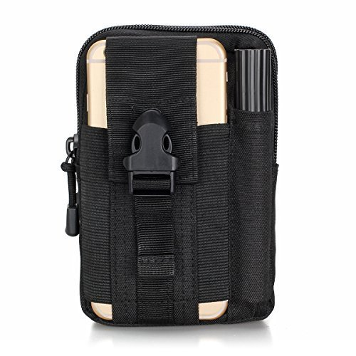 Multifunctional Outdoor Tactical Backpack Waterproof Portable Military Hip Waist Belt Bag iPhone Pouch for iPhone 7 6s Samsung Galaxy S7 Easy to Carry Practical Small Kit (Black) - Portable Belt Pack