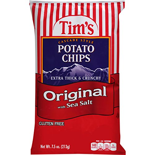 Tim's Cascade Style Potato Chips, Original With Sea Salt, 7.5 Oz