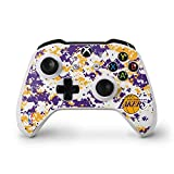 NBA Los Angeles Lakers Xbox One S Controller Skin - Los Angeles Lakers Digi Camo Vinyl Decal Skin For Your Xbox One S Controller