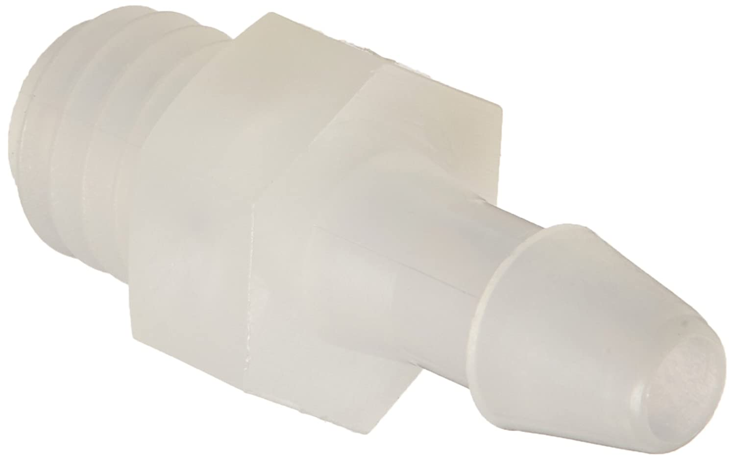 Metric Thread 1//8 Hose Barb Eldon James A6M-2-200NK Natural Kynar Barbed Adapter Fitting M6 x 1 Thread Pack of 10