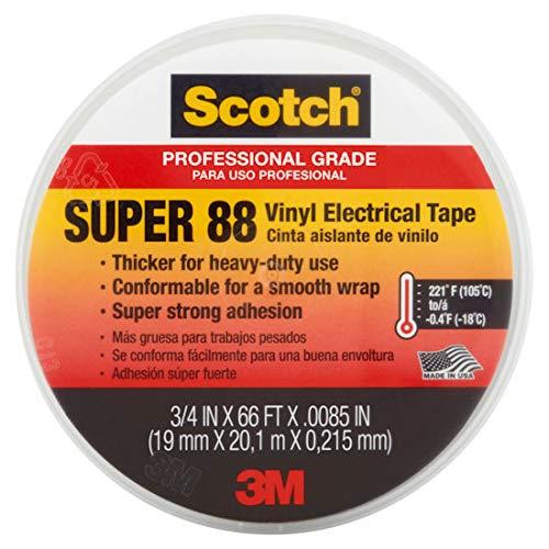 (3M 6143 1 Pack Scotch Premium Vinyl Elec Tape 88 Grey 10 Rolls)