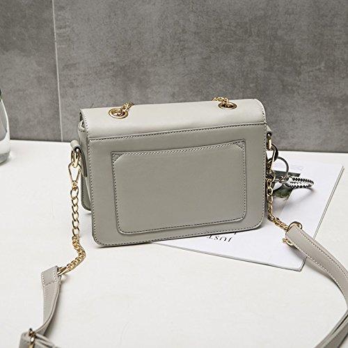 Salvaje Moda Scsy Nuevas Hombro Pequeño bags Cuadrado De Cadena La Exquisito Un Mensajero Gray Mujeres Solo Simple Las Bolso rqZgrcW8