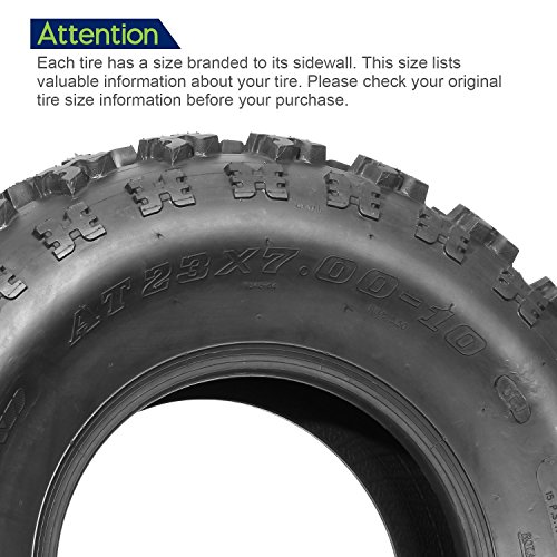 Set of 2 Sport ATV Tires AT 23x7-10 23x7x10 23x7x10 6PR Load Range C 36J by MaxAuto (Image #1)