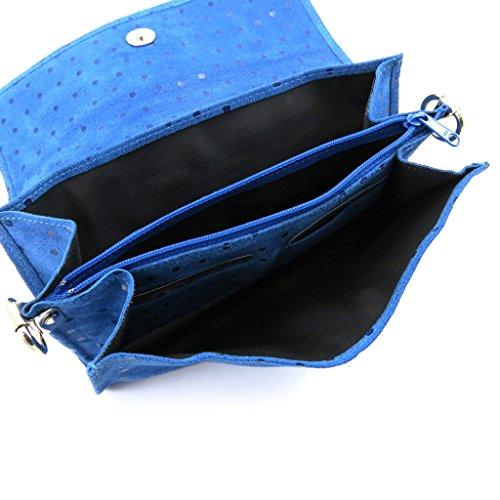 Ledertasche tasche Frandiblau erbsen (2 falten).