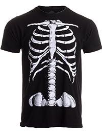 skeleton rib cage jumbo print novelty halloween costume unisex t shirt