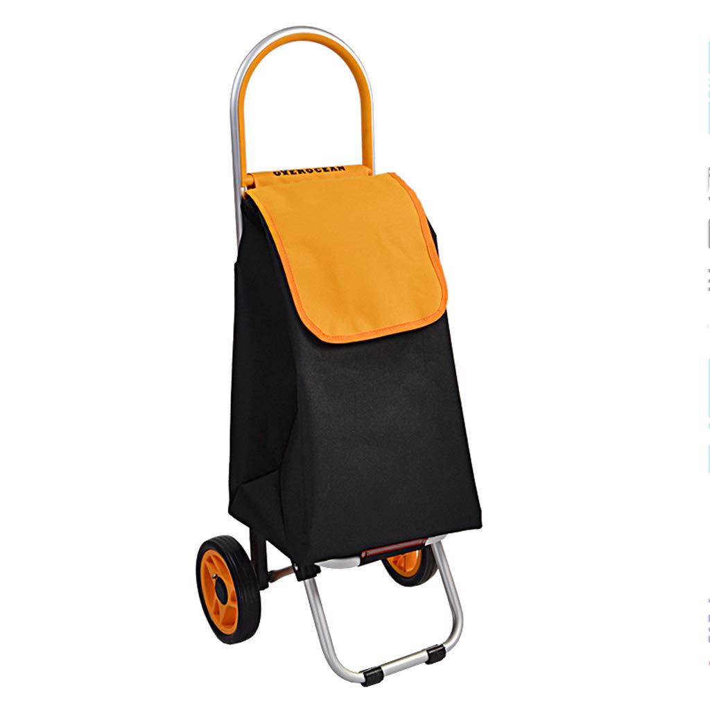 【海外限定】 ミュートマルチファンクションショッピングカートトロリーカートハンドカート B07JR7WP1V、ポータブルアルミ合金荷物カート、ホイール付き、折り畳み式カート軽量リュックサックトロリー Orange、収納パッケージ付き (色 : (色 Orange) Orange B07JR7WP1V, 嬬恋村:e6f6b188 --- a0267596.xsph.ru