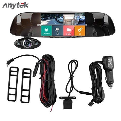 16GB TF Card Car Tachograph 5 Inch HD 1080P Car DVR Camera Dual Way 170 Degree G-sensor Recorder Supper Night Vision Dash Cam Camera Anytek@Car dash Cam B33