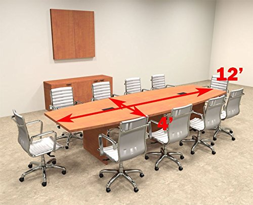 Modern boat shaped 12 39 feet conference table of con c123 for 12 foot conference room table