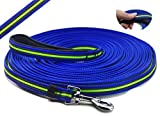 RIHON YOGADOG - Durable 15 Ft to 50 Ft Dog Tracking/Training Lead Leash - Long Lead with Padded Handle - Special Non-slip Design - For any Szie of Dogs (50ft)