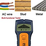 Fiaya 3 In1 Edge Finding Stud Finder Wire Metal Wood Detectors Live AC Wire Warning Detection With LCD Display