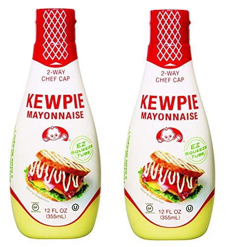 (Kewpie Mayonnaise - Japanese Mayo Sandwich Spread Squeeze Bottle - 12 Ounces (Pack of 2) (1 PACK))