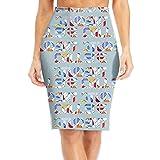 R8e5 Cloth College Student Funny Women Business Bodycon Skirt Midi Slim Pencil Skirts