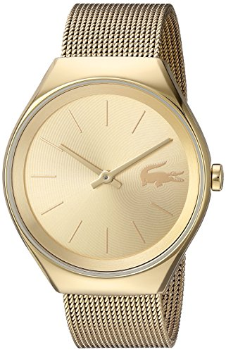 Lacoste Women's 'Valencia' Quartz and Stainless Steel Watch, Color Gold-Toned (Model: 2000952)