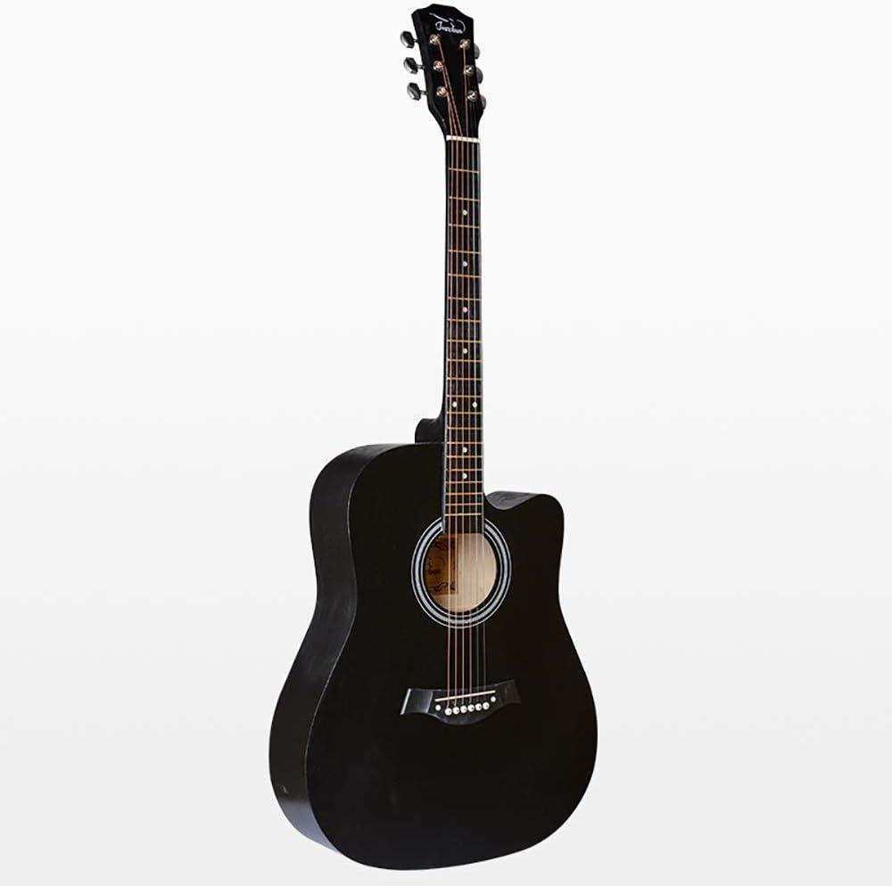 Wguili Las Guitarras clásicas Guitarra de Madera Natural 41 Pulgadas Guitarra acústica de 6 Cuerdas de la Guitarra for Principiantes o Estudiantes Kit Hijos Adultos para los Principiantes y Adultos