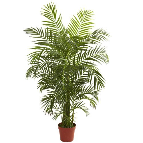 Nearly Natural 5389 Areca Palm UV Resistant Tree, 4.5-Feet, - Mall Palm The Beach Garden