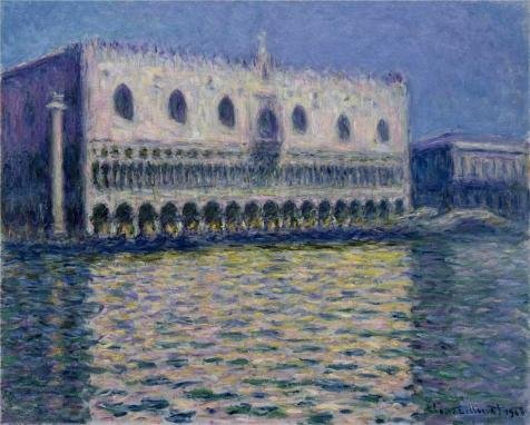 The High Quality Polyster Canvas Of Oil Painting 'Palazzo Ducale, 1908 By Claude Monet' ,size: 30x37 Inch / 76x95 Cm ,this Reproductions Art Decorative Prints On Canvas Is Fit For Study Decor And Home Gallery Art And Gifts -