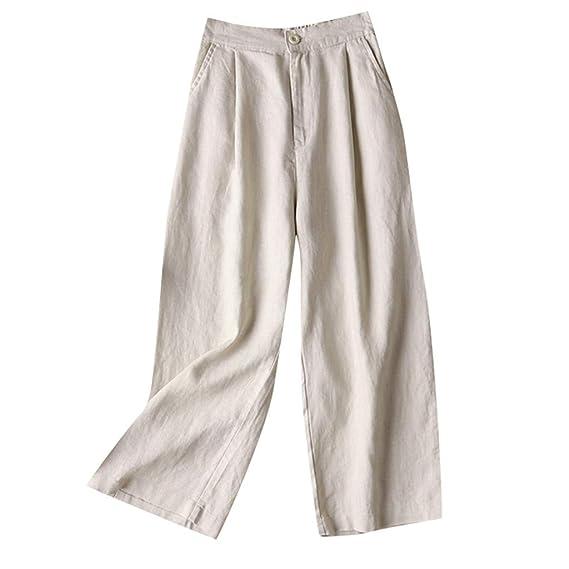 Elsta Damen Weite Beine Lange Hose Casual Große Größen Lose