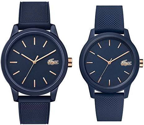 [ラコステ]LACOSTE 収納BOX付 ペアウォッチ 2本セット ペアルック L.12.12 ネイビー ラバー 20110112001067 腕時計 [並行輸入品]
