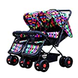 Beautylife88 #0012 Baby Expedition Double Stroller Travel System Multicolor