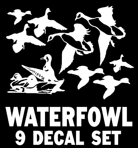 Waterfowl Decal Set - Canada Geese, Puddle Ducks, Mallards, Wood Ducks