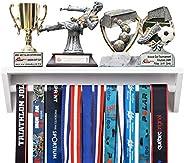 Paisa Home - Medal Hanger & Trophy Shelf- Use as a Medal Display with Shelf, Trophy Rack, Medal Holder and
