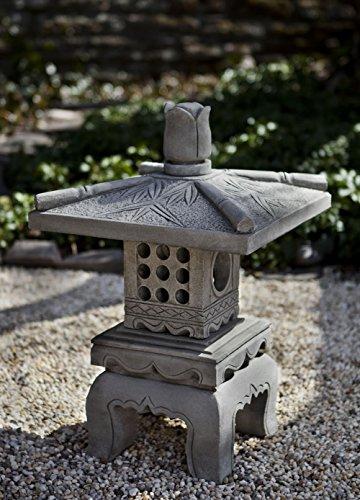 Campania International OR-141-GS Bamboo Pagoda Statuary, Grey Stone Finish