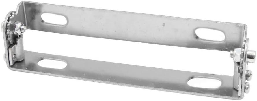 sourcing map Tono argento Angolo regolabile moto Portatarga staffa supporto telaio