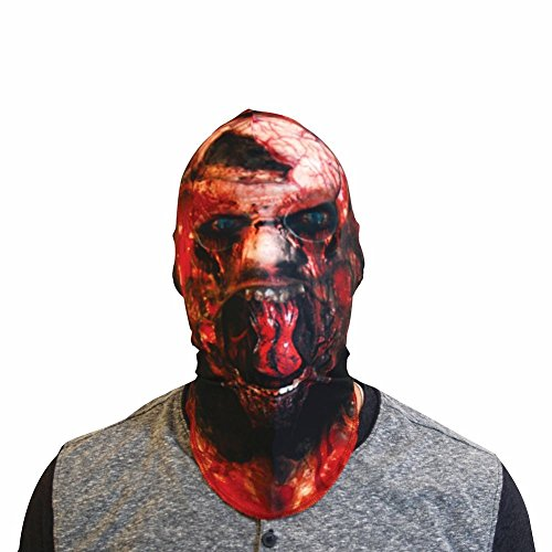 [Unisex-Adult Zombie Photo Realistic Halloween Fabric Mask] (Zombie Costume Ideas For Adults)