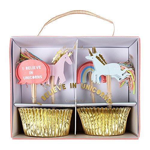 - Meri Meri, Cupcake Kit, I Believe In Unicorns - Pack of 24