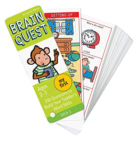 My First Brain Quest Q&A Cards: 350 Questions to Build Your Toddler's Word Skills. Teacher Approved! (Brain Quest Decks)