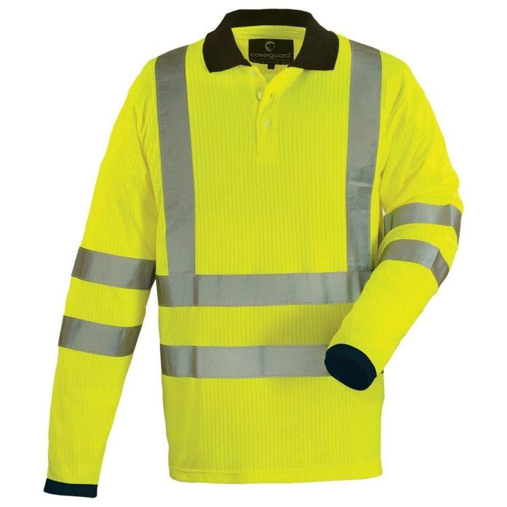 Euro Protection - Polo Manga Larga Alta Visibilidad De Camiseta De ...