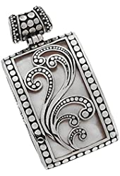 Mother of Pearl Balinese Pendant Sterling Silver