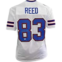 $94 » Andre Reed Signed HOF '14 Pro Edition Football Jersey White () - JSA Certified - Autographed NFL Jerseys