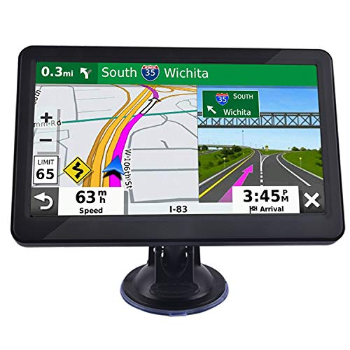 GPS Navigation for Car, JOGANVE 7″ Touch Screen 8GB Real Voice Spoken Turn-by-Turn Direction Reminding Navigation System for Cars, Vehicle GPS Satellite Navigator with Free Lifetime Map Update