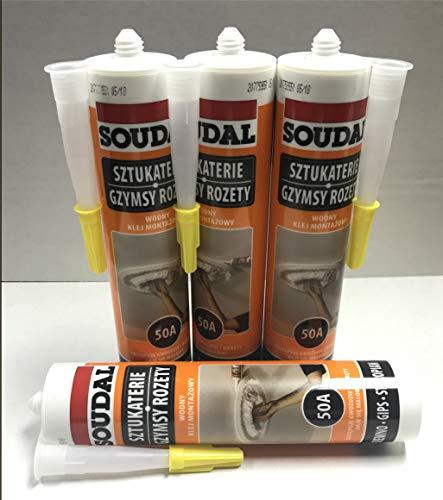 Glue10 - 4 Tubes - Universal Adhesive for Styrofoam Ceiling Tiles - pack of 4 (Ceiling Tiles Glue)