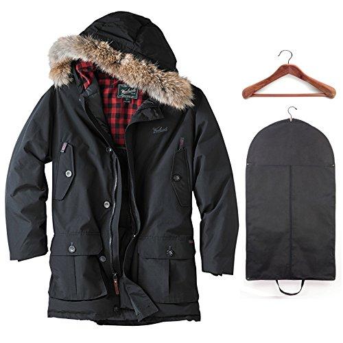 Woolrich Men's Arctic Parka Black w/Garment Bag & Cedar Hanger - Mens Arctic Woolrich