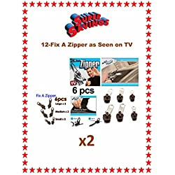 Fix A Zipper 12-Replacement Zippers-3-Sizes (Brown) U.S.A. SELLER FAST SHIPPING