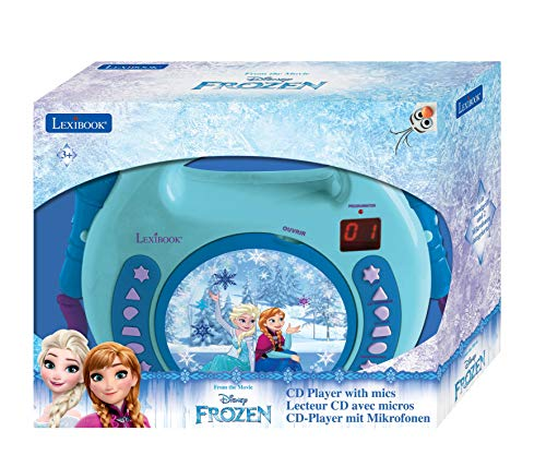 Lexibook Disney Frozen Anna and Elsa CD player for kids with