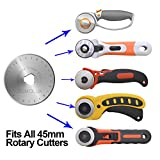 Rotary Cutter Blades 45mm 10 Pack by SOMOLUX,Fits