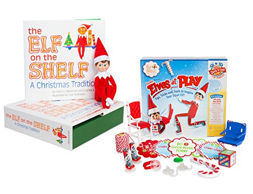 The Elf on the Shelf: A Christmas Tradition - Blue Eyed North Pole Elf Boy with Elves at Play Kit (Dog Elf Outfit)